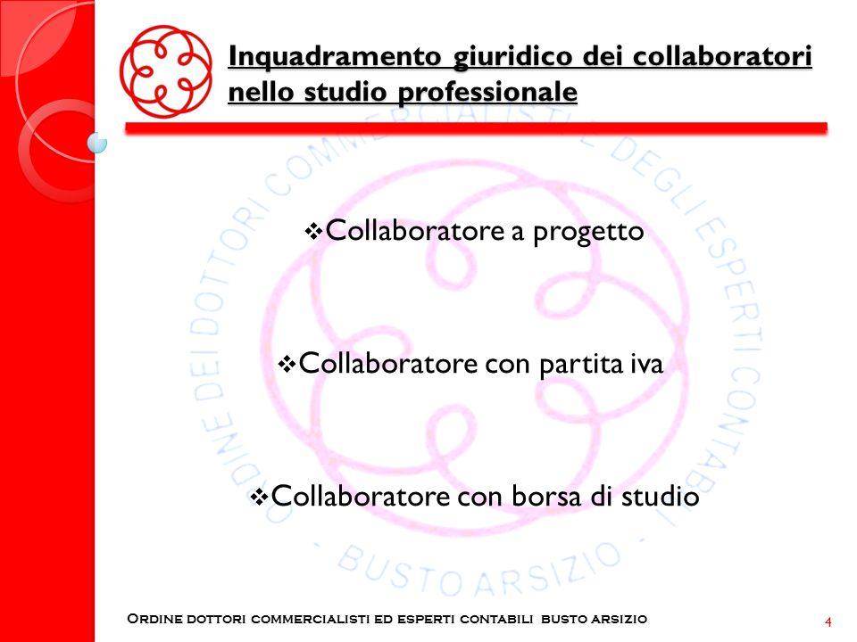 Inquadramento giuridico dei collaboratori nello studio professionale