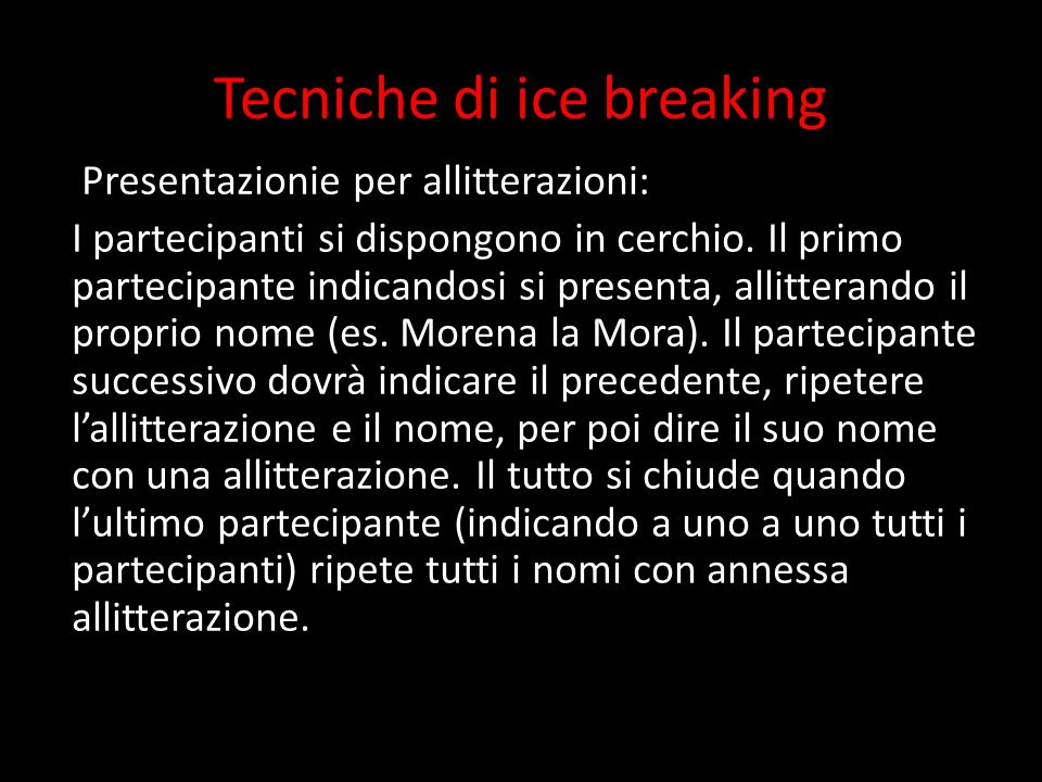 Tecniche di ice breaking