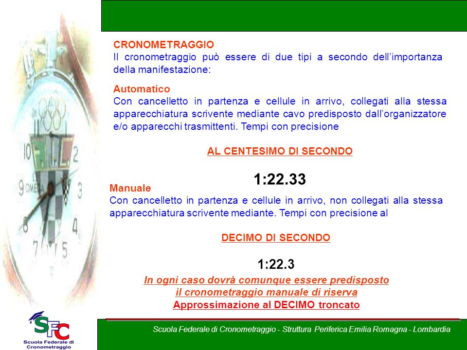1:22.33 1:22.3 Corso allievi cronometristi – Brixia Crono