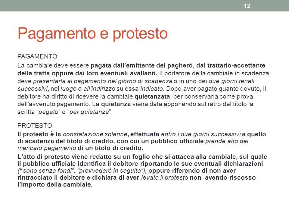 Pagamento e protesto