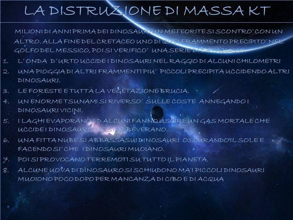 LA DISTRUZIONE DI MASSA KT