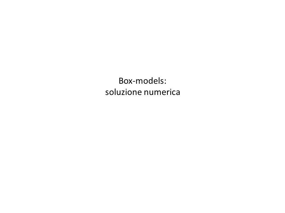 Box-models: soluzione numerica