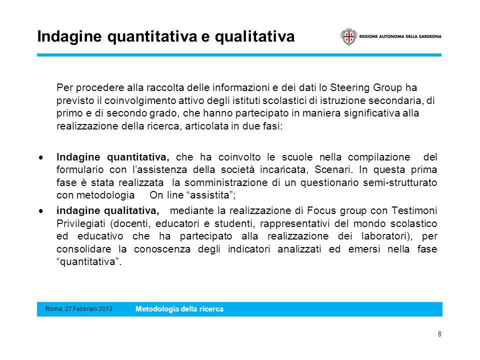 Indagine quantitativa e qualitativa