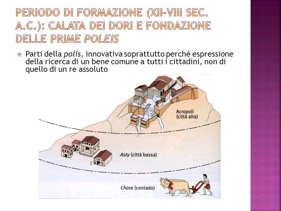 Periodo di formazione (XII-VIII sec. a. C
