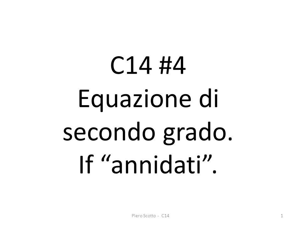 Equazione di secondo grado.