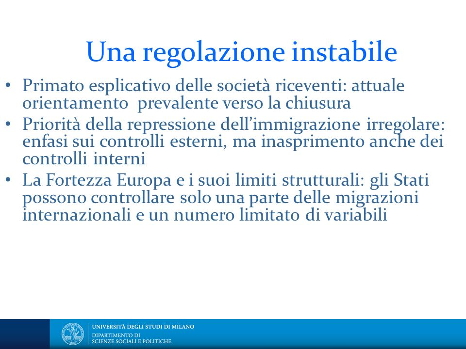 Una regolazione instabile