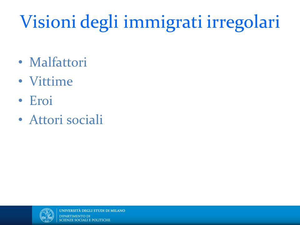 Visioni degli immigrati irregolari