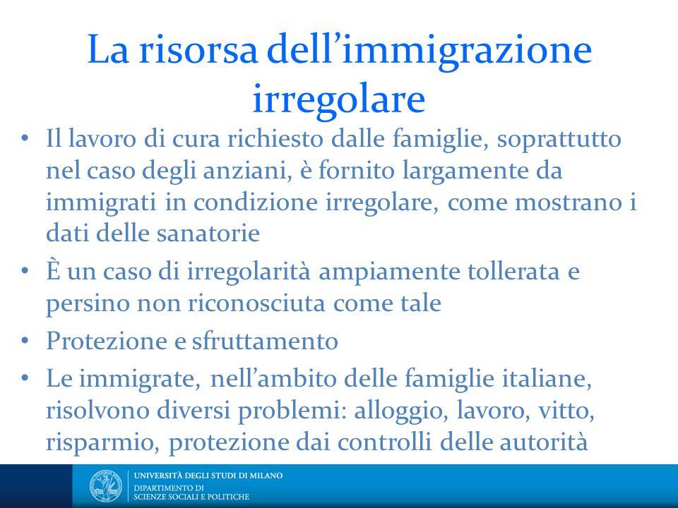 La risorsa dell'immigrazione irregolare