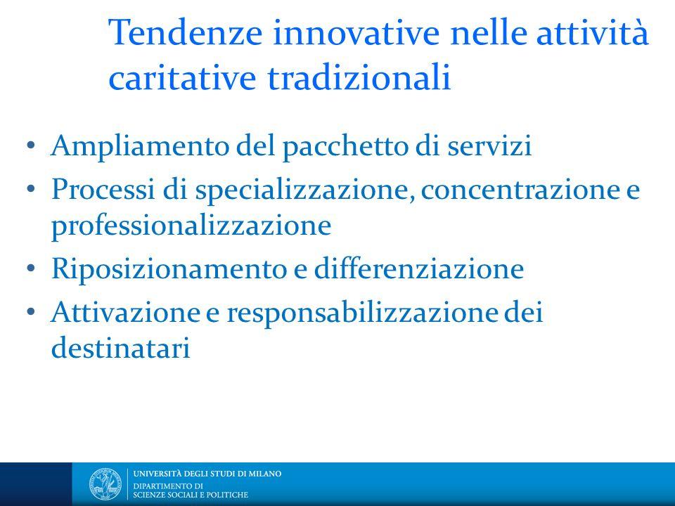 Tendenze innovative nelle attività caritative tradizionali