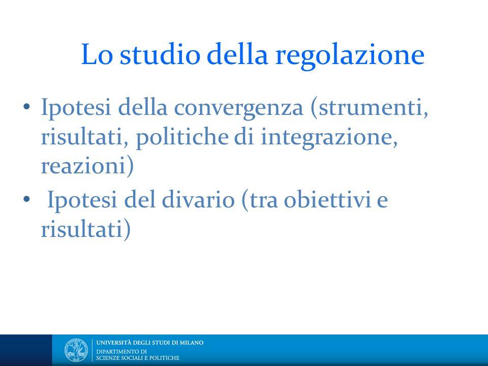 Lo studio della regolazione