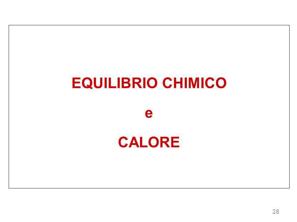 EQUILIBRIO CHIMICO e CALORE