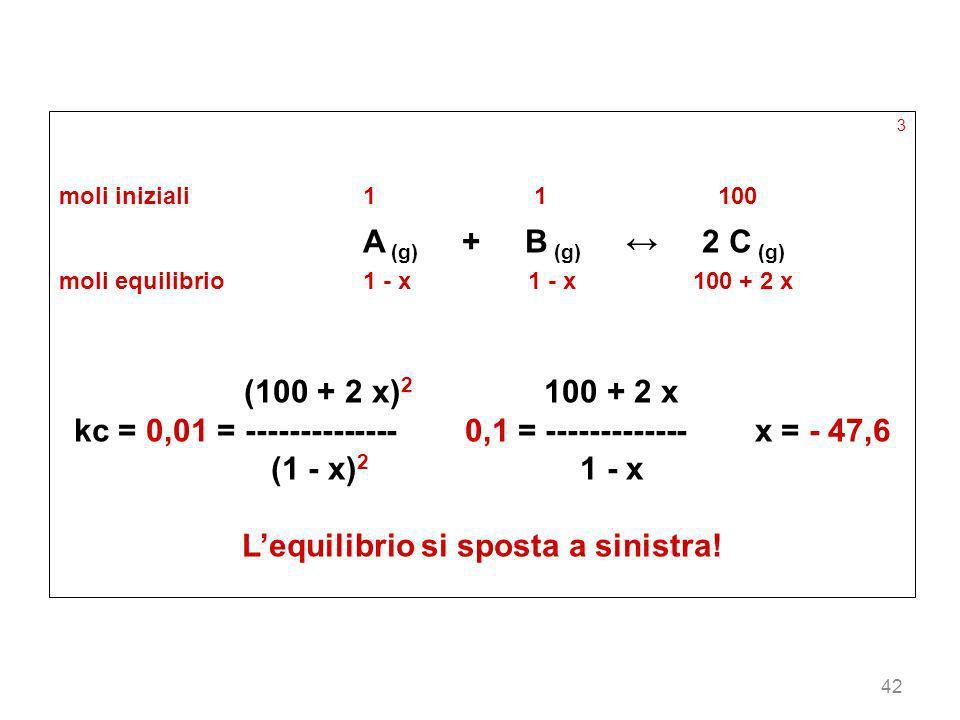 kc = 0,01 = -------------- 0,1 = ------------- x = - 47,6