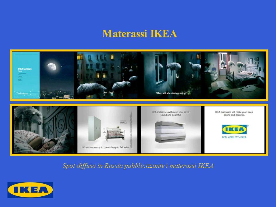 Spot diffuso in Russia pubblicizzante i materassi IKEA