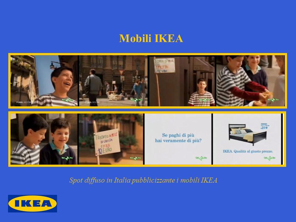 Mobili IKEA Spot diffuso in Italia pubblicizzante i mobili IKEA
