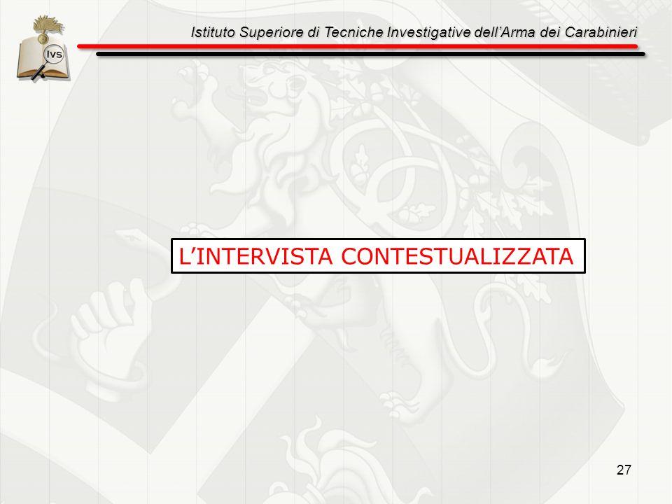 L'INTERVISTA CONTESTUALIZZATA