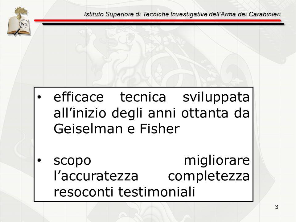 efficace tecnica sviluppata all'inizio degli anni ottanta da Geiselman e Fisher