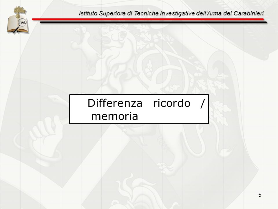 Differenza ricordo / memoria
