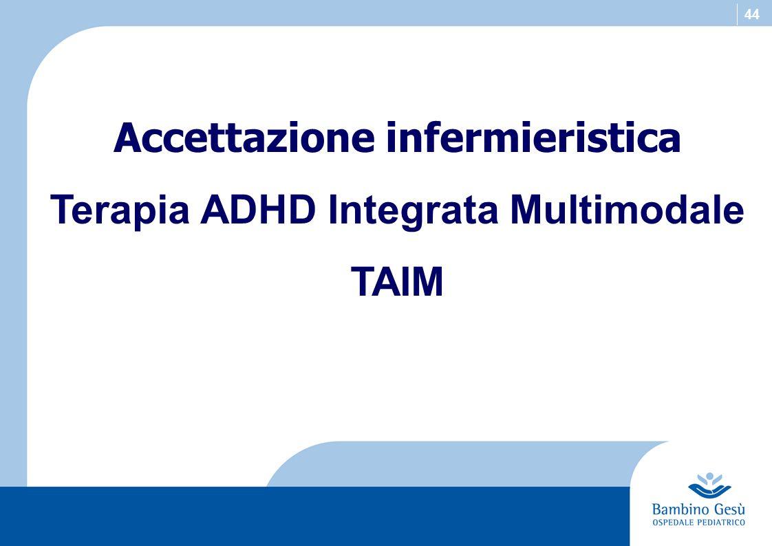 Accettazione infermieristica Terapia ADHD Integrata Multimodale