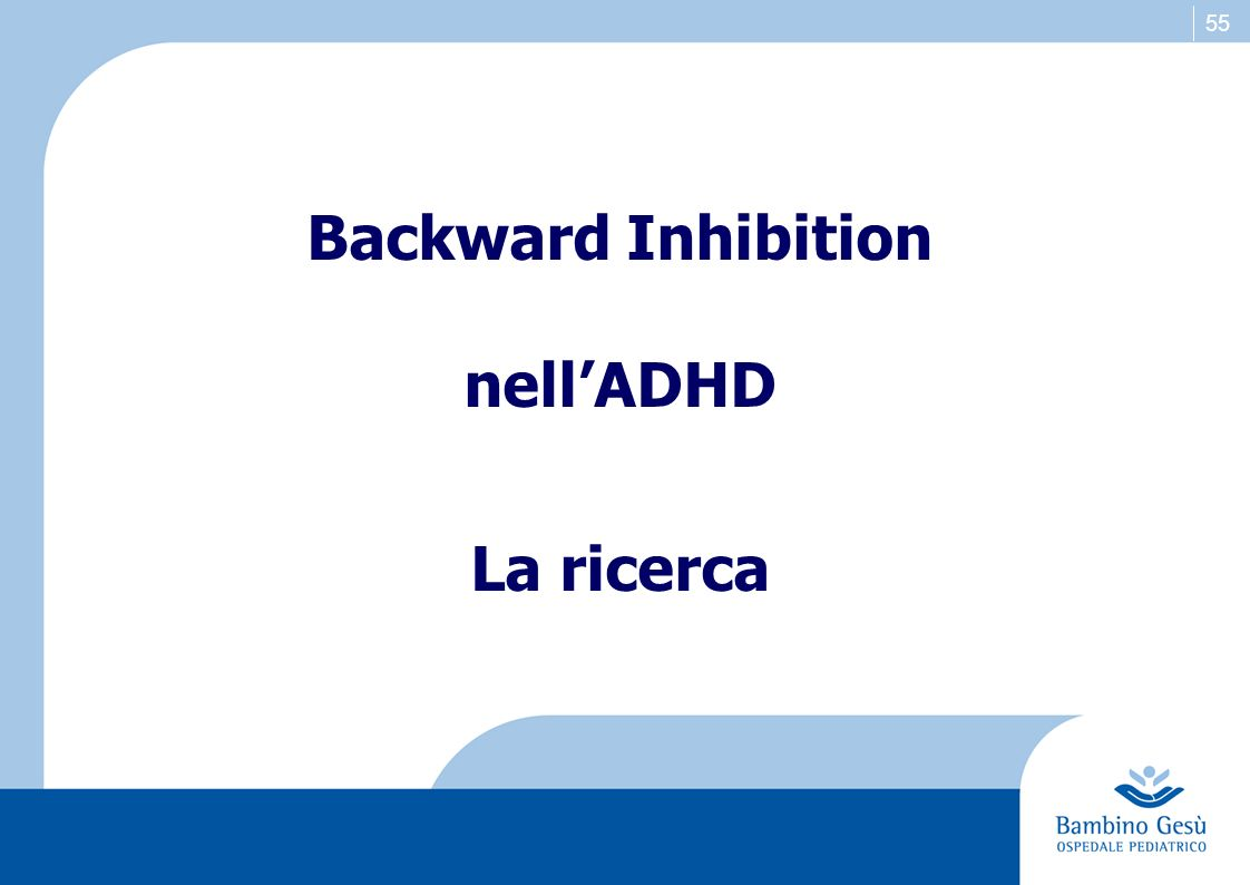 Backward Inhibition nell'ADHD