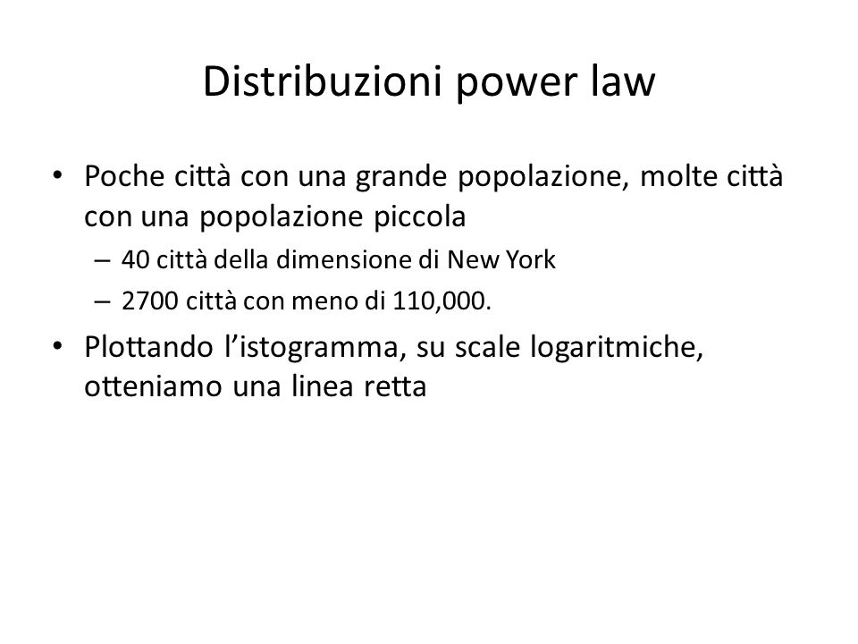 Distribuzioni power law