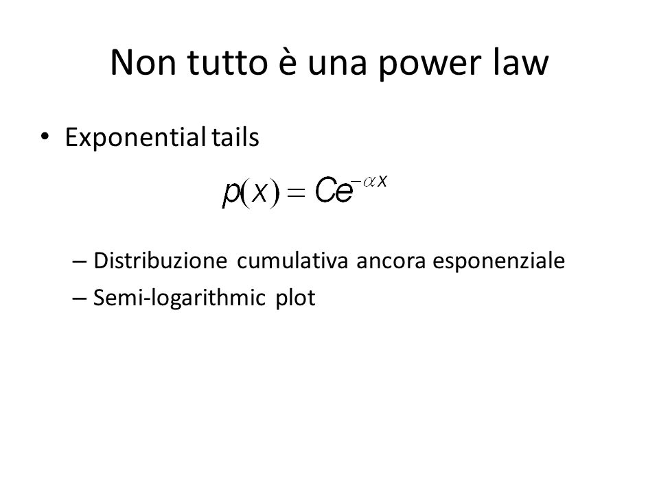 Non tutto è una power law