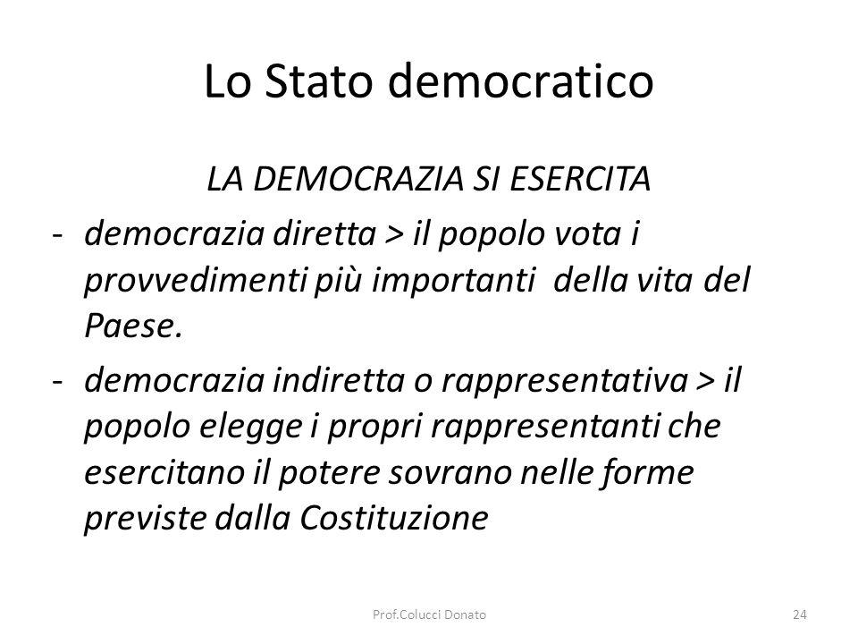 LA DEMOCRAZIA SI ESERCITA