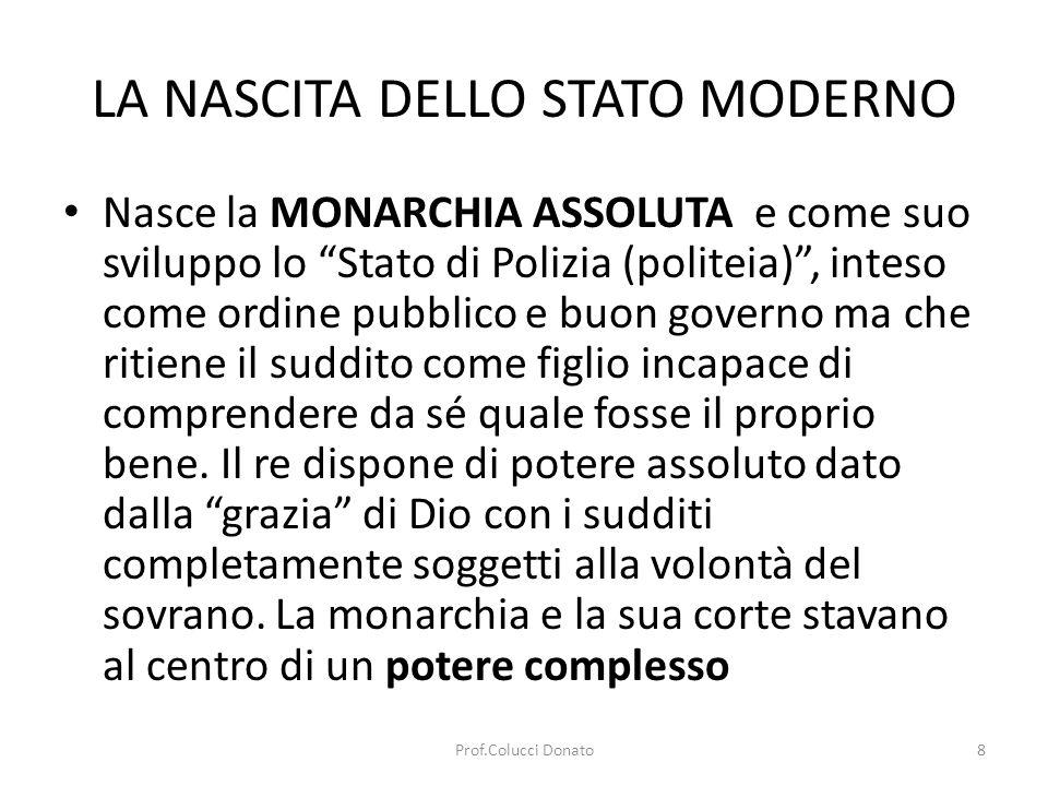 LA NASCITA DELLO STATO MODERNO
