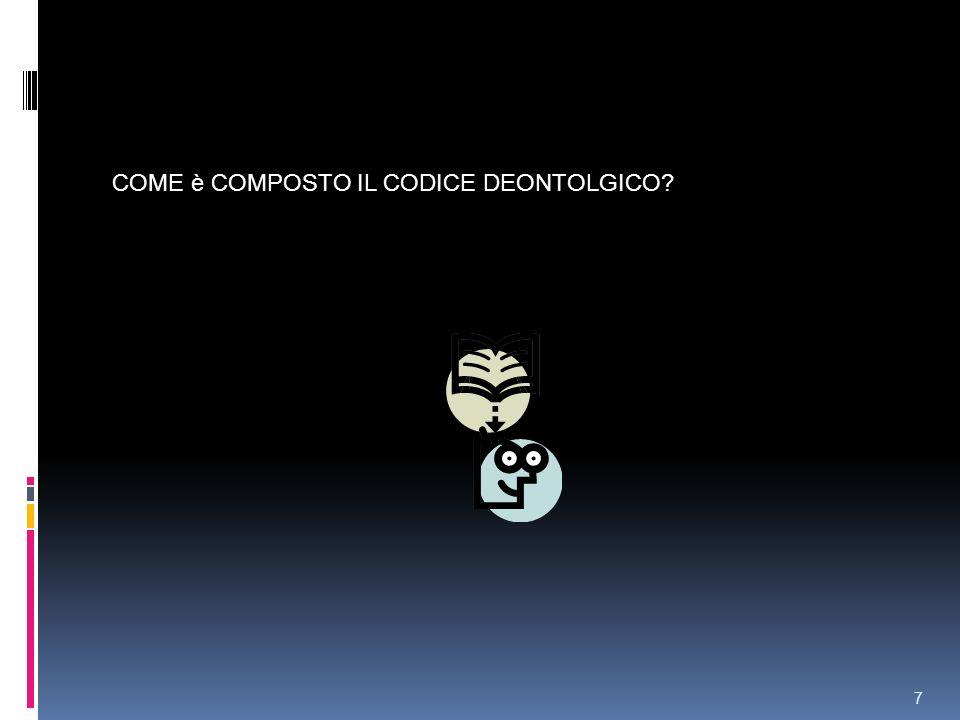 COME è COMPOSTO IL CODICE DEONTOLGICO
