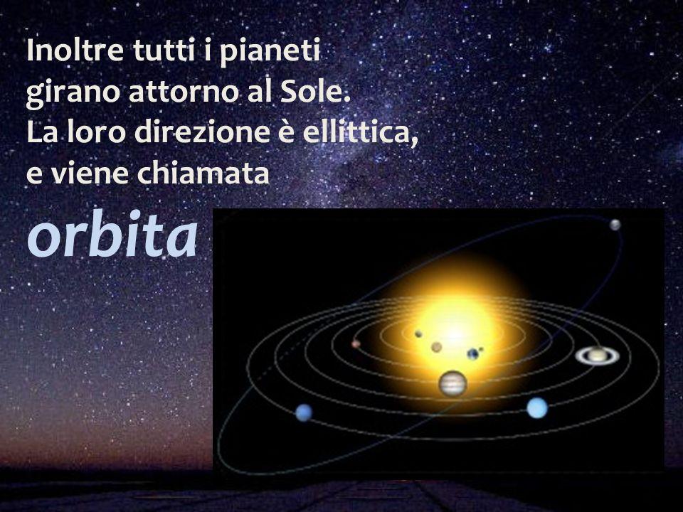 Inoltre tutti i pianeti girano attorno al Sole