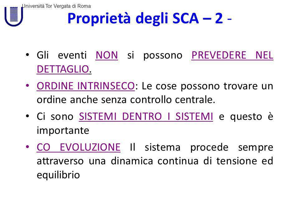 Proprietà degli SCA – 2 - Gli eventi NON si possono PREVEDERE NEL DETTAGLIO.