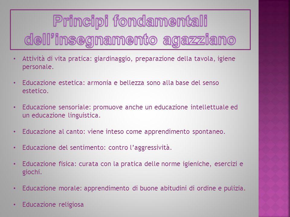 Principi fondamentali dell'insegnamento agazziano