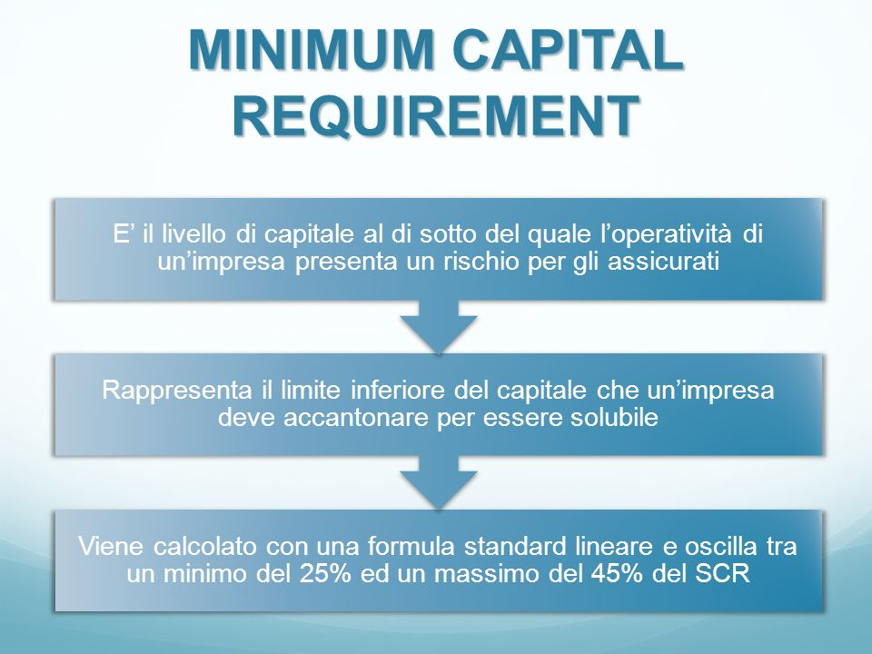 MINIMUM CAPITAL REQUIREMENT