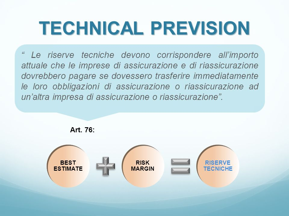 TECHNICAL PREVISION
