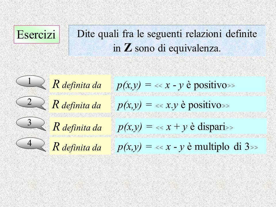 Esercizi R definita da R definita da R definita da R definita da