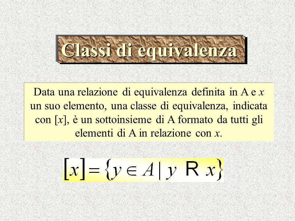 Classi di equivalenza