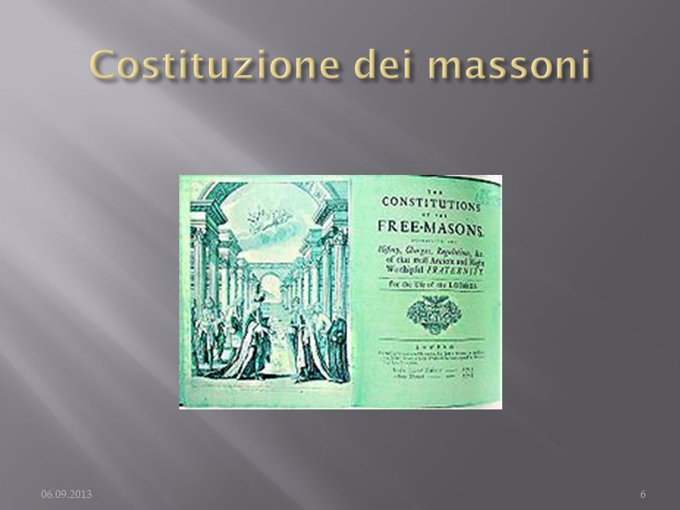 Costituzione dei massoni