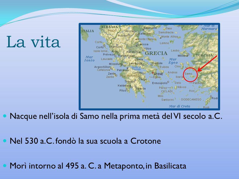 La vita Nacque nell'isola di Samo nella prima metà del VI secolo a.C.