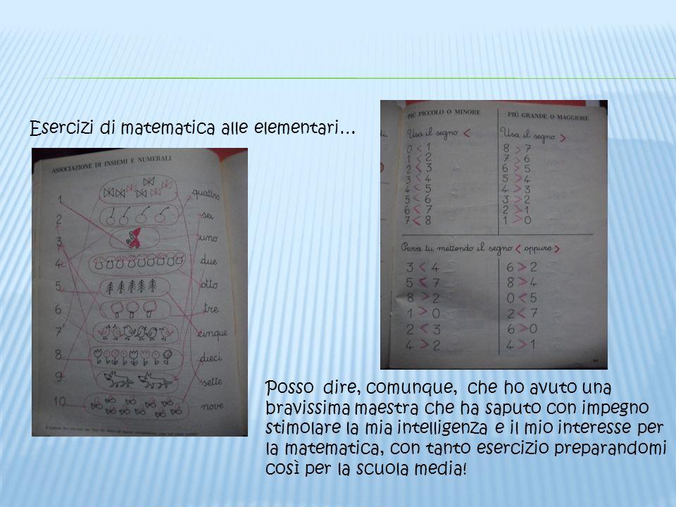 Esercizi di matematica alle elementari…