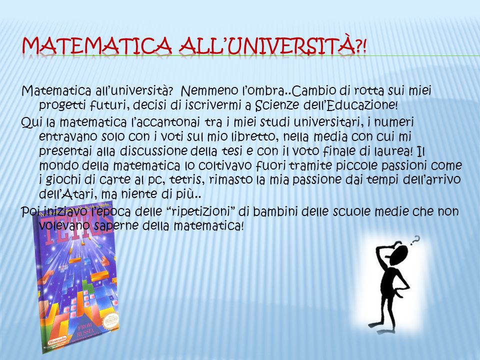 Matematica all'università !