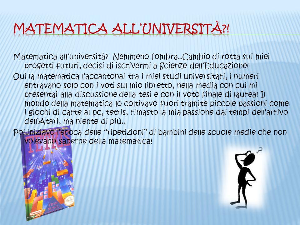 Matematica all'università !