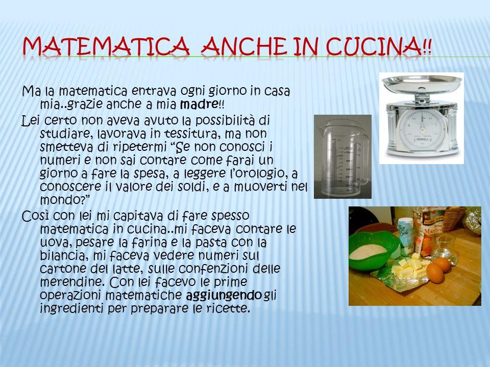 Matematica anche in cucina!!