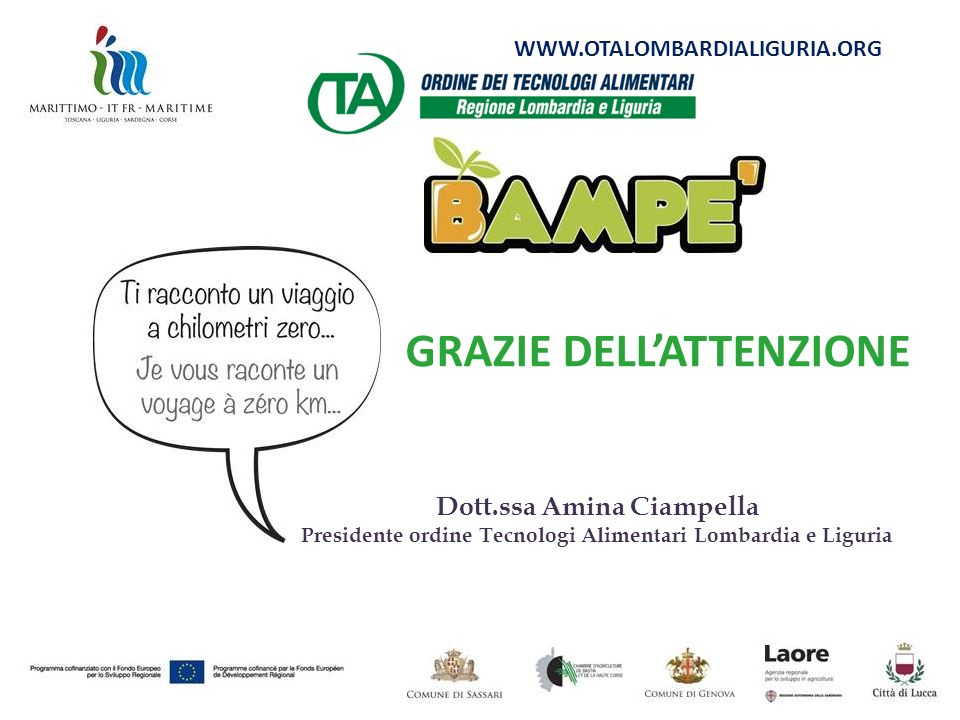 GRAZIE DELL'ATTENZIONE Dott.ssa Amina Ciampella