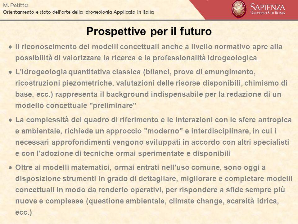 Prospettive per il futuro