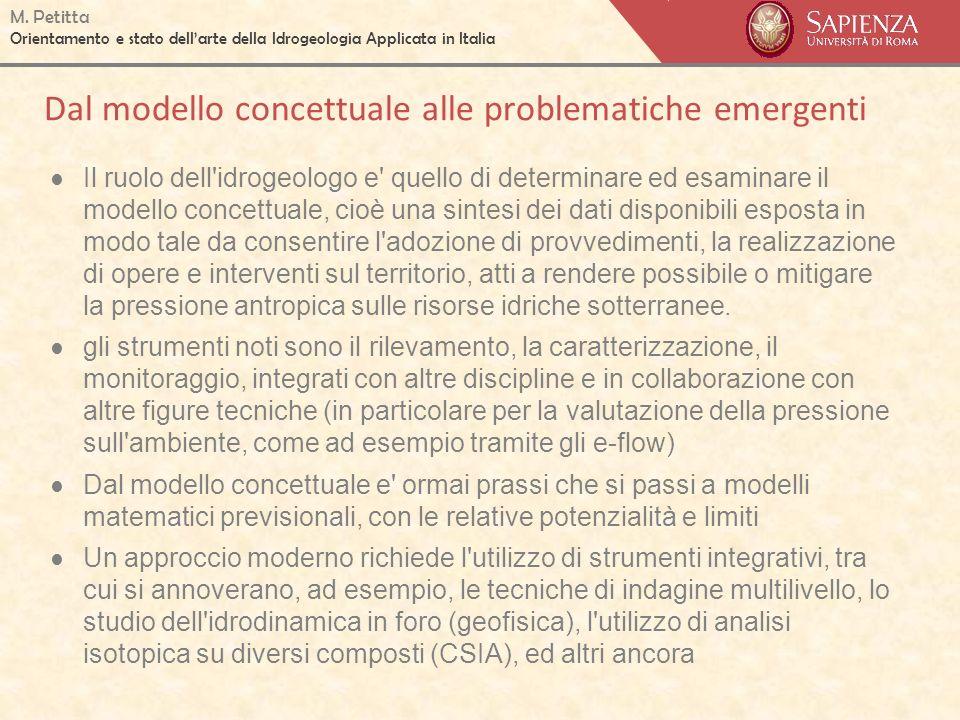 Dal modello concettuale alle problematiche emergenti