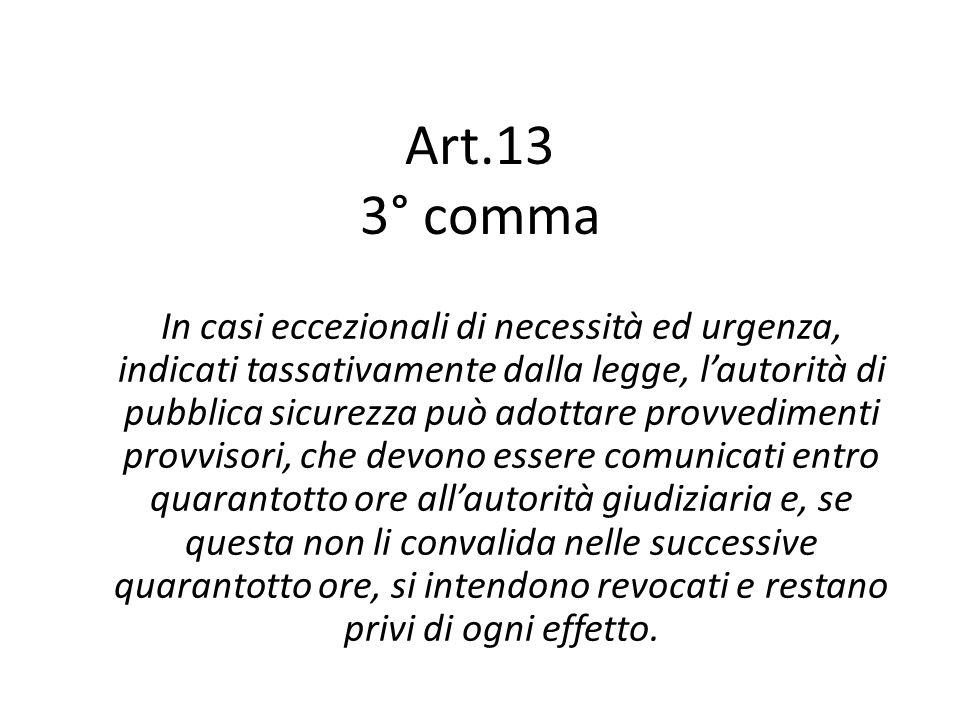 Art.13 3° comma
