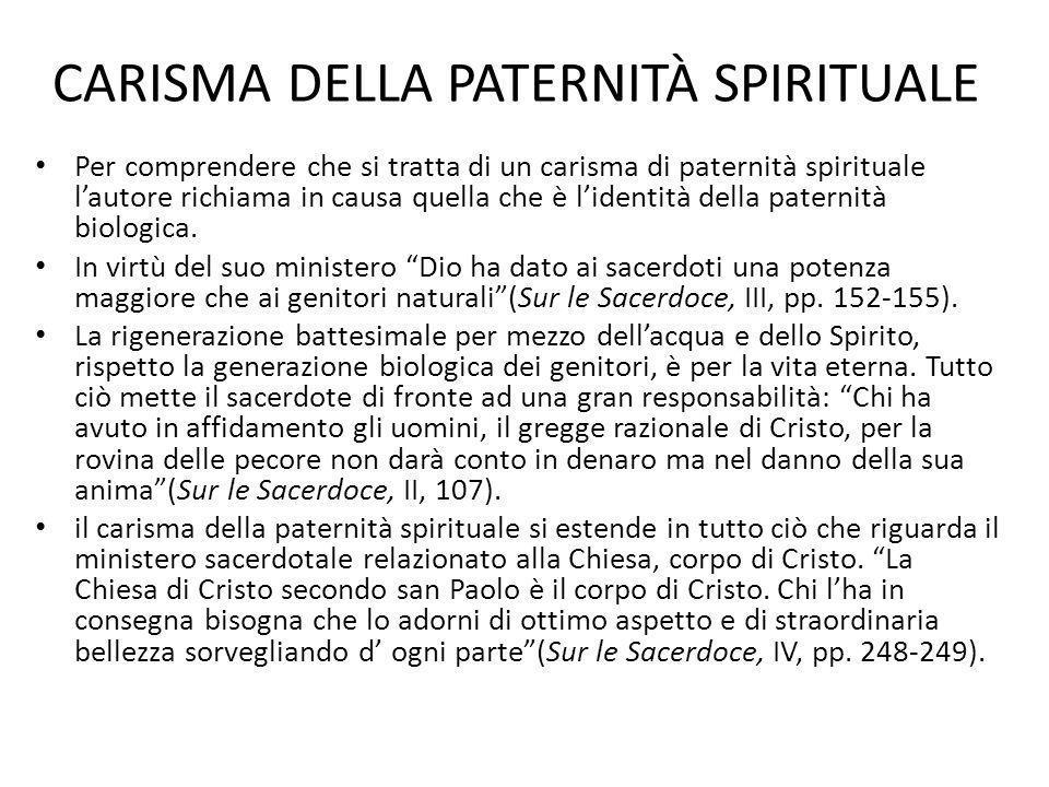 CARISMA DELLA PATERNITÀ SPIRITUALE