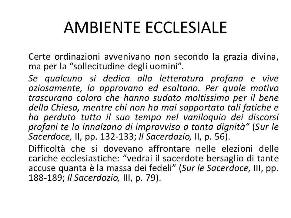 AMBIENTE ECCLESIALE