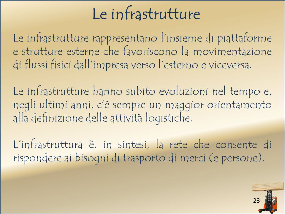 Le infrastrutture