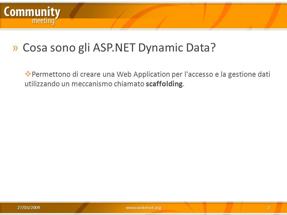 Cosa sono gli ASP.NET Dynamic Data