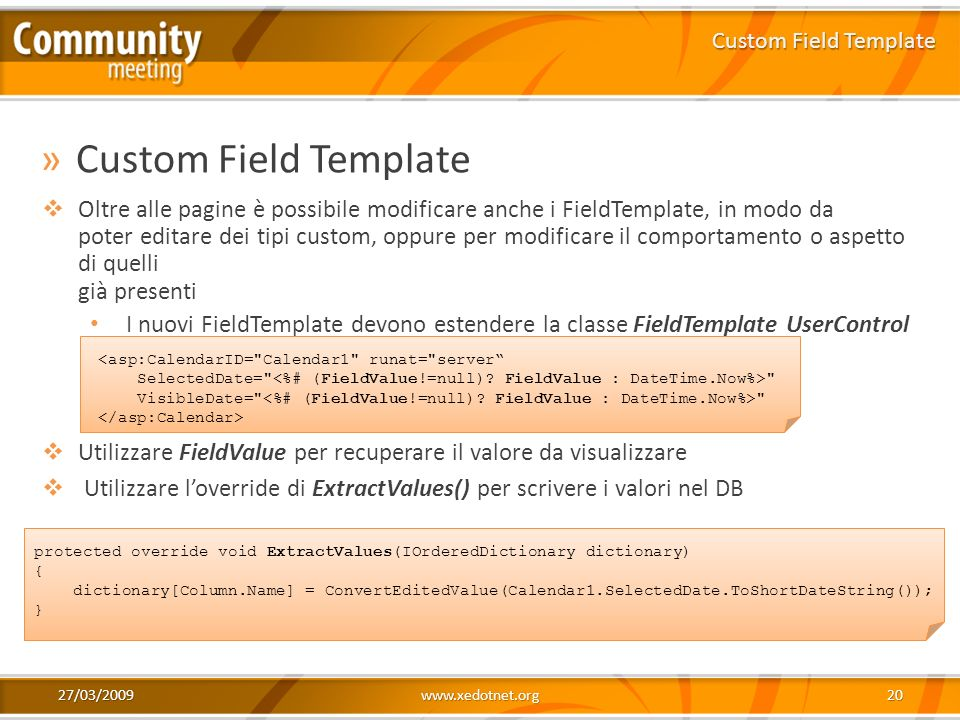 Custom Field Template Custom Field Template.